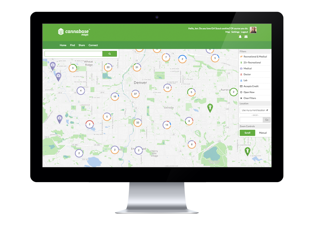 cannabase maps dispensary finder